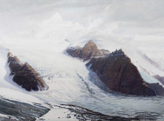 Oraefajökull, olej, plátno, 95 x 130 cm, 2016