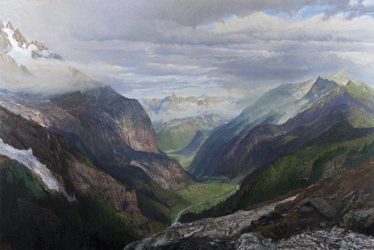 Ötztal, olej, plátno, 200 x 300 cm, 2015