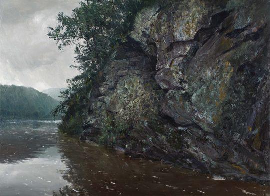 Berounka, olej, plátno, 95 x 130 cm, 2016