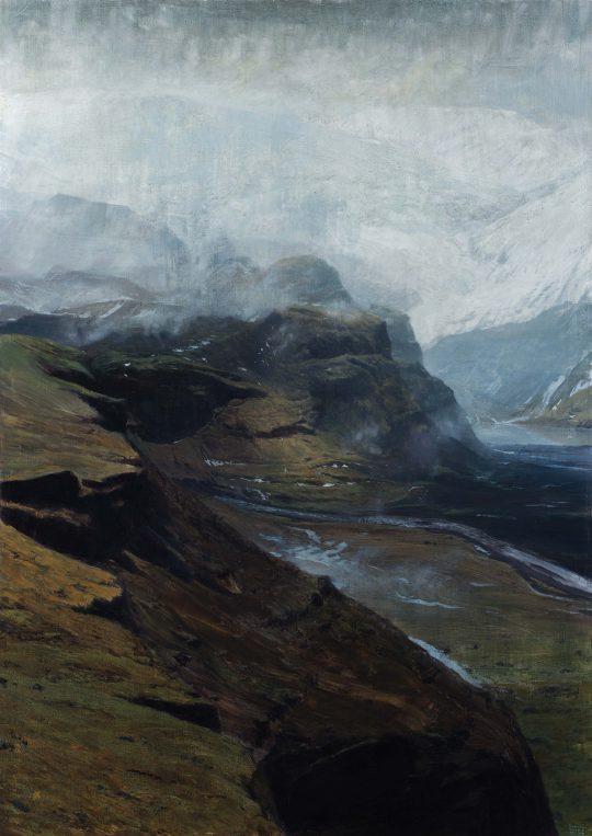 Solheimjökull, Island, olej, plátno, 140 x 100 cm, 2016