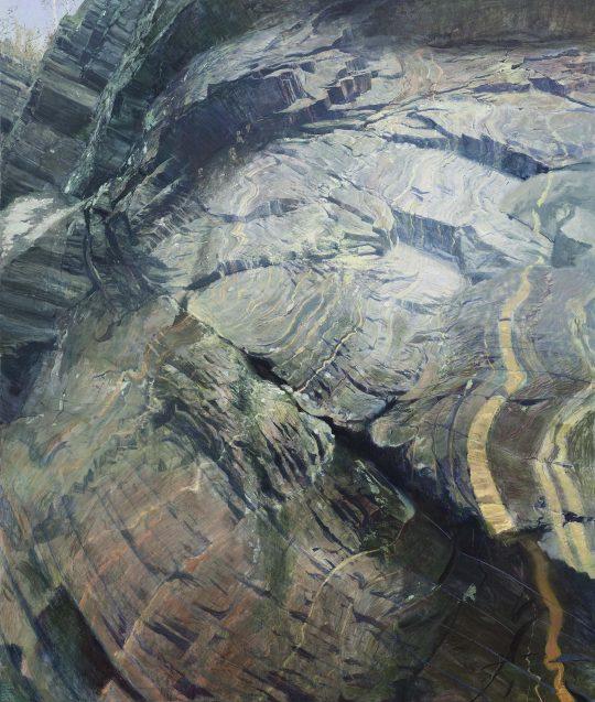 Bohuňovské skály, 170 x 200 cm, olej, plátno, 2016