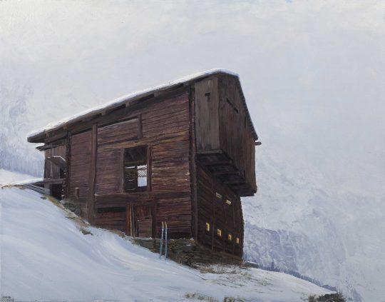 Seník 1, 60 x 50 cm, olej na plátně, 2016