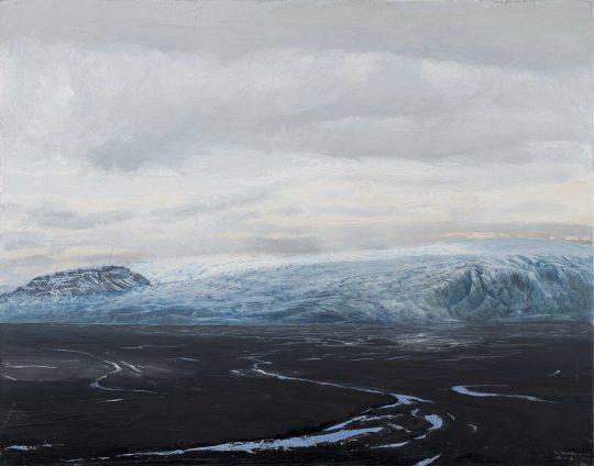 Skeidararsandur, Island, olej, plátno, 55 x 70 cm, 2016