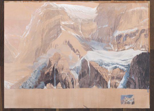 Aconcagua, 60 x 110 cm, kvaš, 2014
