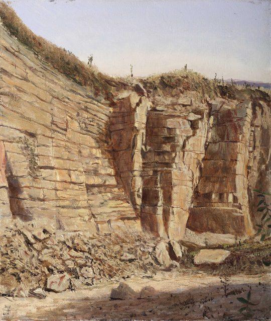 Opuky, Přibylov, 35x40 cm, olej na plátně, 2015