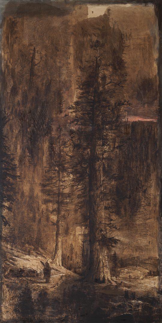 Königs - Tanne, olej, plátno, 210 x 140 cm, 2015