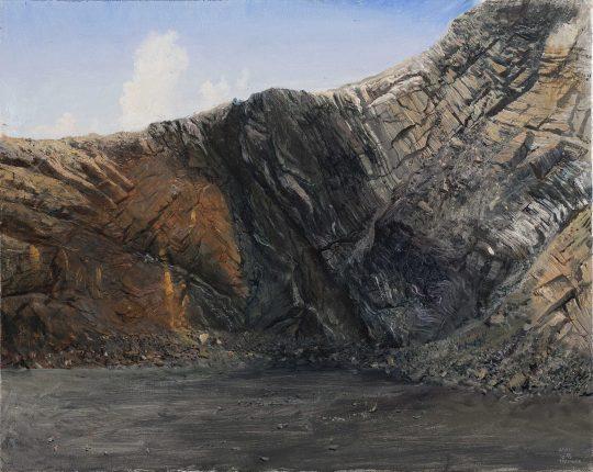Lom Prachovice, 50 x 60 cm, olej na plátně, 2015