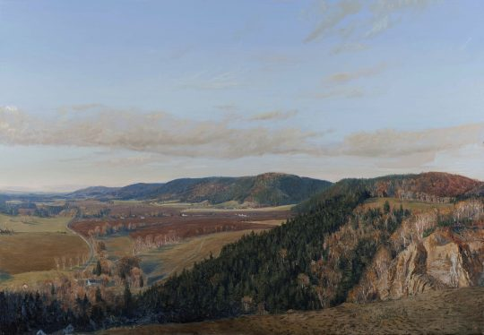 Železné hory ze Štikova, 90 x 120 cm, olej na plátně, 2015