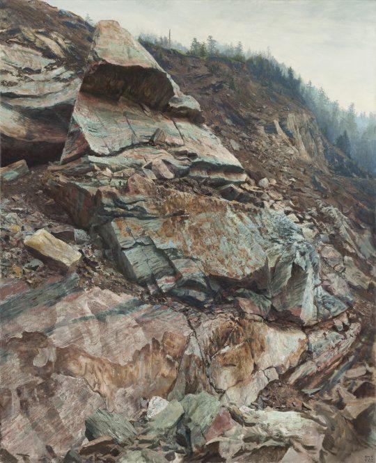 Erlany, Bludov, 2018, olej na plátně 130 × 160 cm