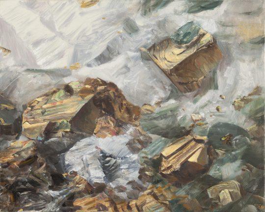 Pyrit, 2018, olej na plátně, 50 × 40 cm