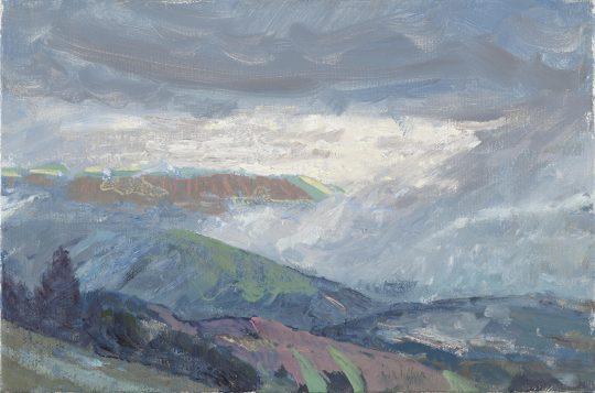 Břidličná, 2017, olej na plátně, 20 × 30 cm