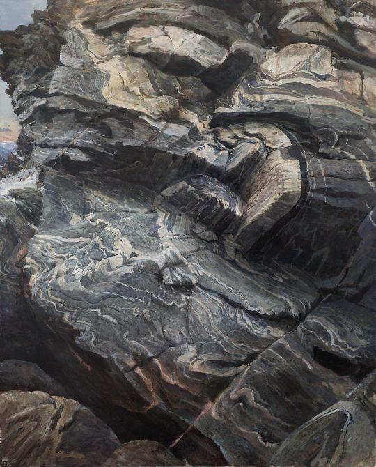 Tři kameny, 2017, olej na plátně, 130 × 160 cm