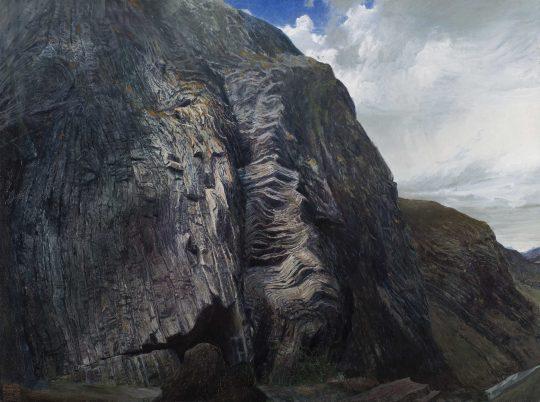 Barrandovská skála, olej, plátno, 120 x 170 cm, 2015