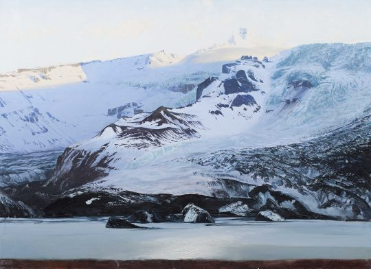 Oraefajökull, Island, olej, plátno, 95 x 130 cm, 2016