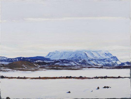 Leirhnjukuri, Island, olej, plátno, 45 x 60 cm, 2016