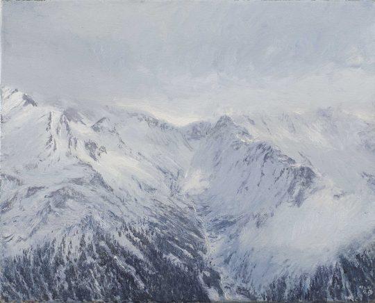 Bílá tma, Taury, olej, plátno, 25 x 35 cm, 2016