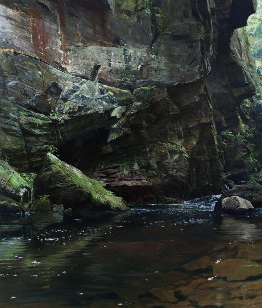 Skála u Doubravy, olej, plátno, 170 x 200 cm, 2016
