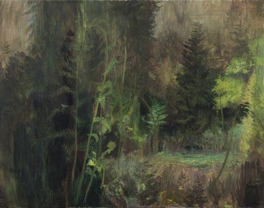 Cyklus uhlíku - studie, olej, plátno, 55 x 70 cm, 2016