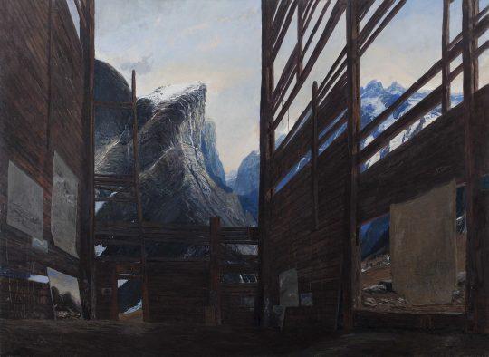Sýpka (Seník - atelier), 110 x 150 cm, olej, plátno, 2015