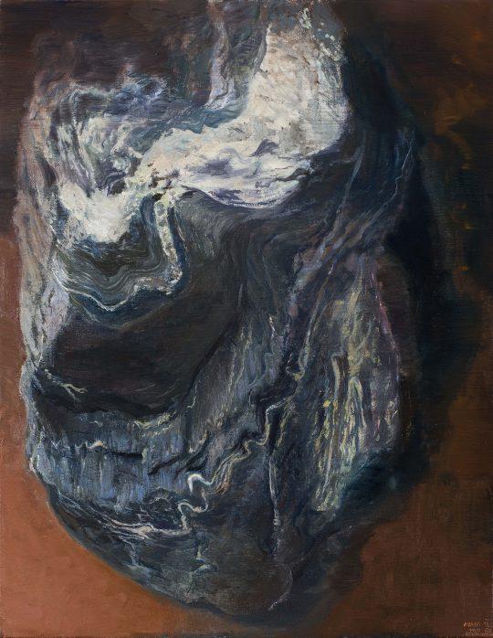 Fylit (Berounka), olej, plátno, 45 x 35 cm, 2016