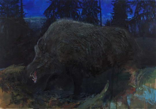 Divočák, olej, plátno, 140 x 200 cm, 2015