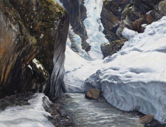 Taschachschlucht, 2019, olej na plátně, 50x65cm