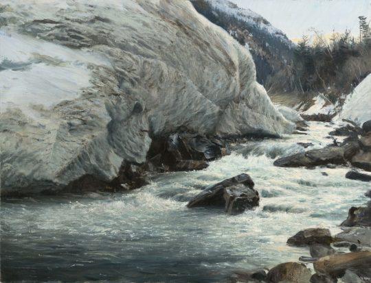 Lavina, 2019, olej na plátně, 50x65cm