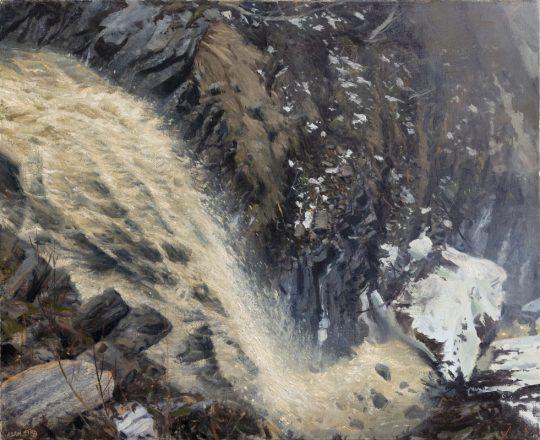 Eroze, 2019, olej na plátně, 50x65cm