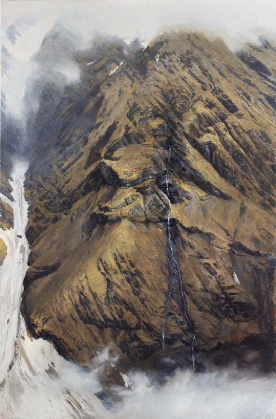Stěna u Neururu, 2019, olej na plátně, 200x130cm