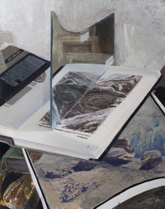 Geologické zátiší, 90 x 110 cm, olej plátno, 2016