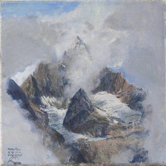 Hohegeige, 20 x 20 cm, olej na plátně, 2015