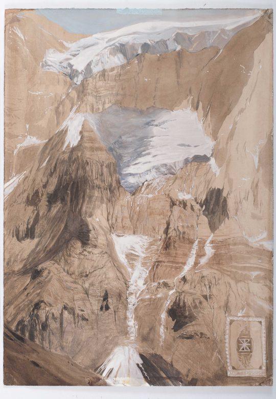 Aconcagua, 60 x 35 cm, kvaš, 2014