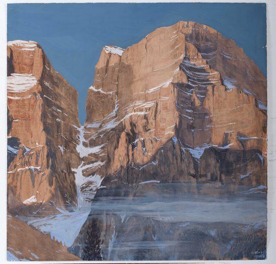 Monte Pelmo, kvaš, 50 x 50 cm, 2014