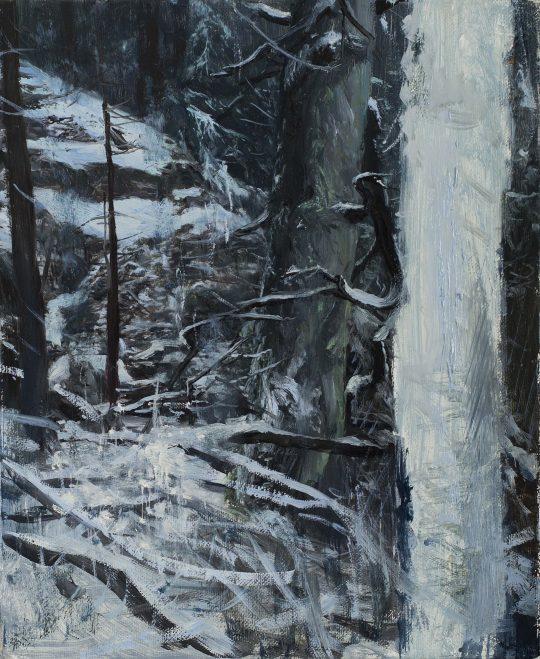 Doubravka - Krystaličnost, olej, plátno, 30 x 25 cm, 2017