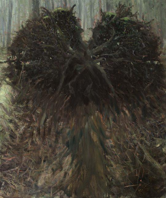 Černá madonna, olej, plátno, 65 x 55 cm, 2017