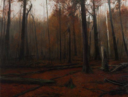 Třešť, olej, plátno, 160 x 210 cm, 2014