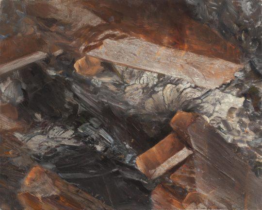 Staurolit, 2018, olej na plátně, 50 × 40 cm
