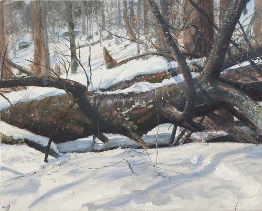 Merta - tání, olej na plátně, 40x50cm, 2018