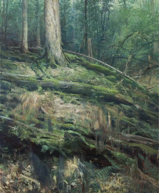 Tlení, hnití, spalování 3 - Razula, olej na plátně, 160x130 cm, 2017
