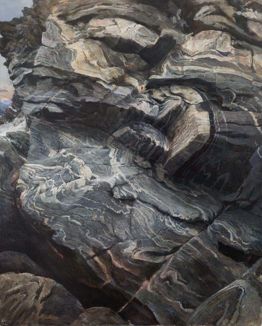 Tři kameny, 160x130cm, olej na plátně, 2017 x