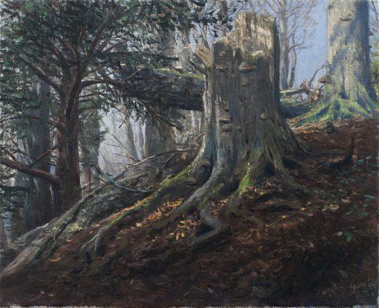 Hřebeč, olej na plátně, 35x40 cm, 2015