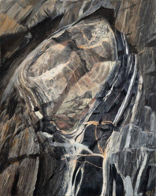 Budina, Altaj, 2019, olej na plátně, 50x40cm