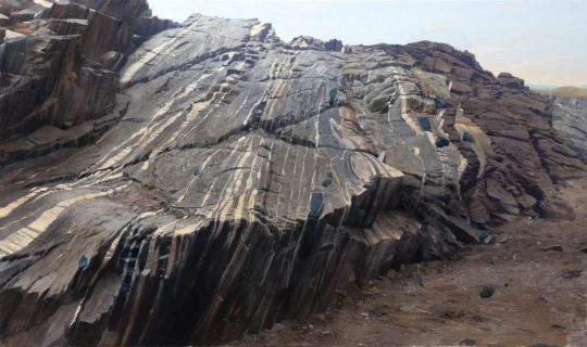 Migmatity Altaj, 110x180cm, olej na plátně, 2019