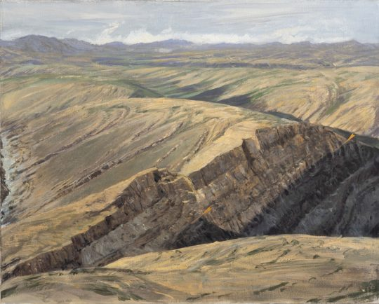 Rodinia passive margin 2 (Mongolsko), 2019, olej na plátně, 40x50cm