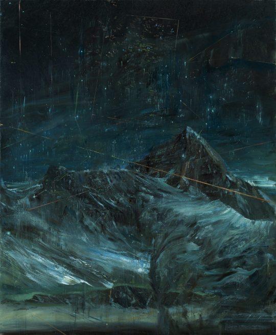 Galaktická kupa v panně, olej na plátně, 160x130cm, 2018