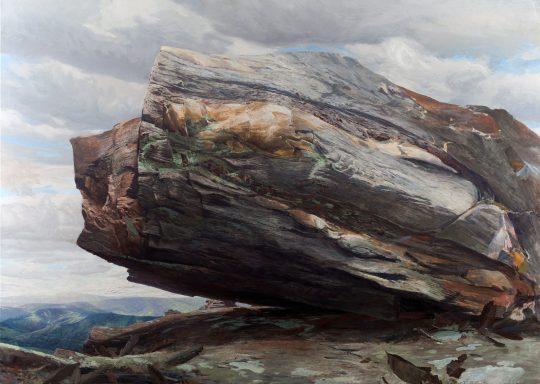 Staurolický svor, 205x300cm, olej na plátně, 2017