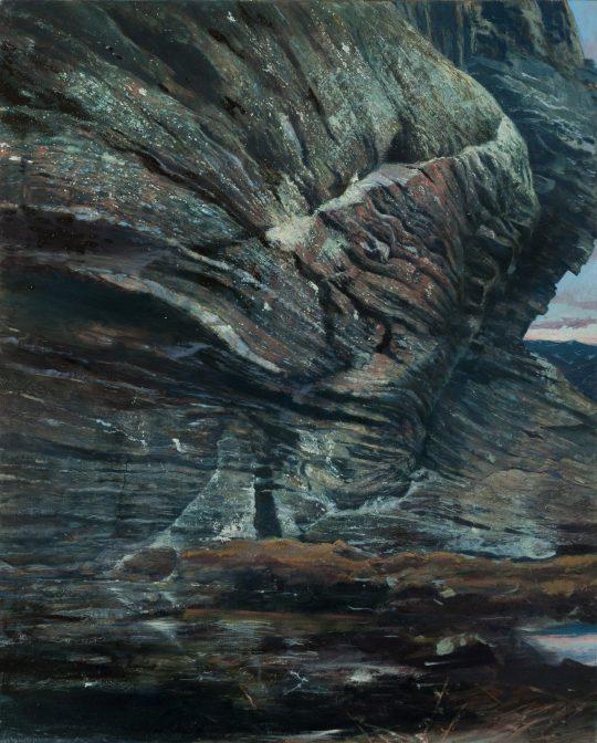 Okatá rula na Kočičí skalce, 160x130, olej na plátně, 2018