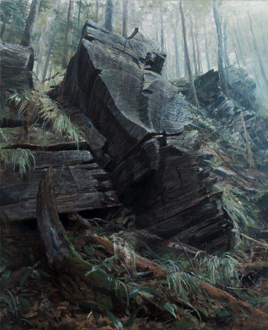 Nad Zadním Hutiskem, 160x130cm, olej na plátně, 2017