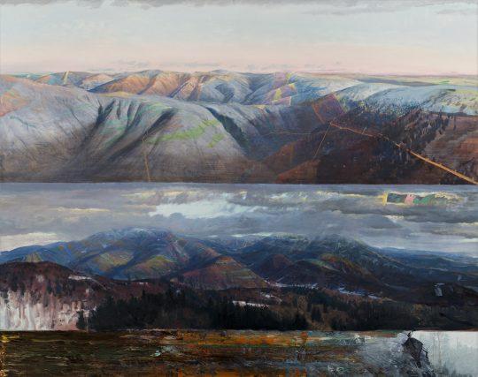 Klenby, 160x200cm, olej na plátně, 2018