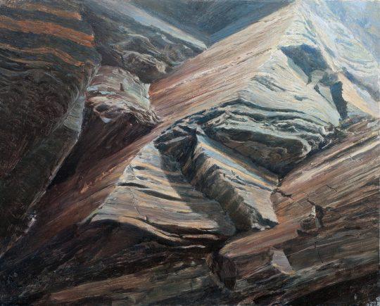 Pasák - skalní okno, 40x50cm, olej na plátně, 2017 x